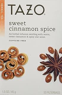 Tazo Sweet Cinnamon Spice Herbal Tea 20 Bags (Pack of 2)