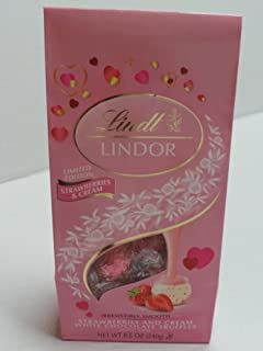 Lindt Valentine Lindor Strawberries and Cream, 8.5 oz