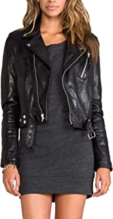 Kingdom Leather New Women Genuine Real Leather Jacket Ladies Slim Fit Biker Coat XW601