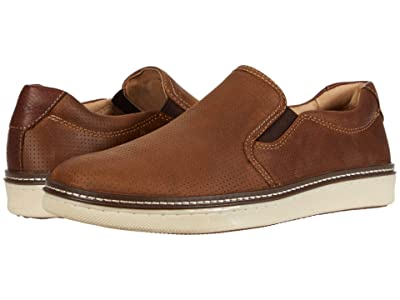 Johnston & Murphy McGuffey Perfed Slip-On (Tan Oiled Full Grain) Men