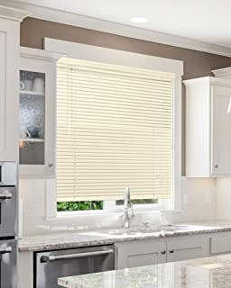 CHICOLOGY Custom Made Corded 1-Inch Aluminum Mini Blind, Blackout Horizontal Slats, Inside Mount, Room Darkening Perfect for Kitchen/Bedroom/Living Room/Office and More - 36