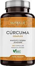 Cúrcuma orgánica(650mg) con Jengibre(50mg) y Pimienta Negra(10mg)   120 cápsulas vegetales   Máxima calidad   Potente antiinflamatorio y antioxidante natural   Cúrcuma complex   Nutralie
