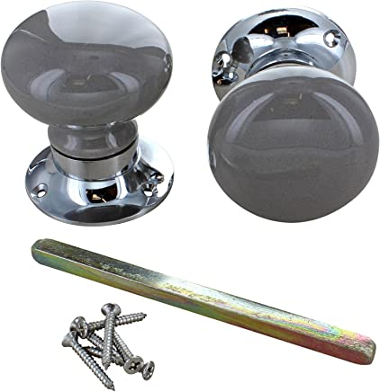 Light Grey ceramic door knobs mortice door knobs set porcelain handle