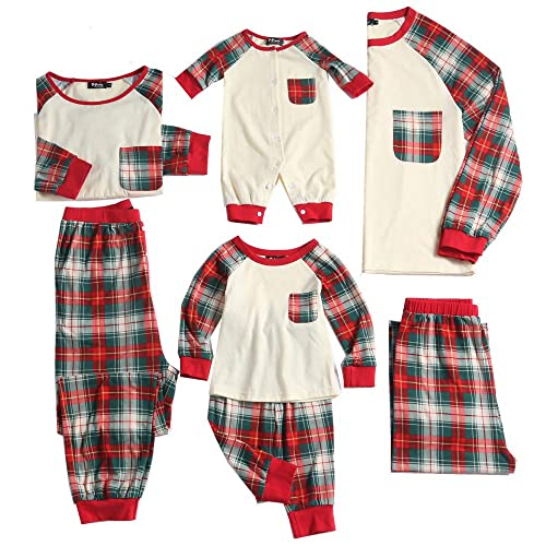 PopReal Plaid Family Matching Clothes Long Sleeve and Pans Christmas Pajamas  Set 464e9af50