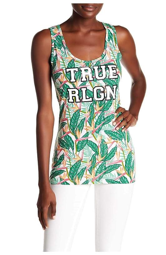 True Religion Women's Tropical Scoop Neck Tank Top