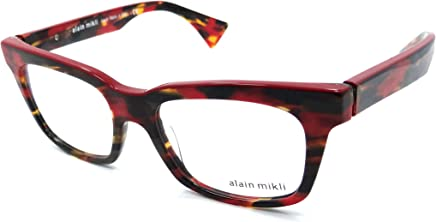 58ed4a51ba2 Alain Mikli Rx Eyeglasses Frames A03021 A03C 50x17 Multi Red Made in Italy