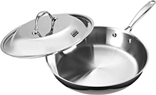 Cooks Standard Stainless Steel Dome Lid 12-Inch Multi-Ply Clad Fry Pan, Silver
