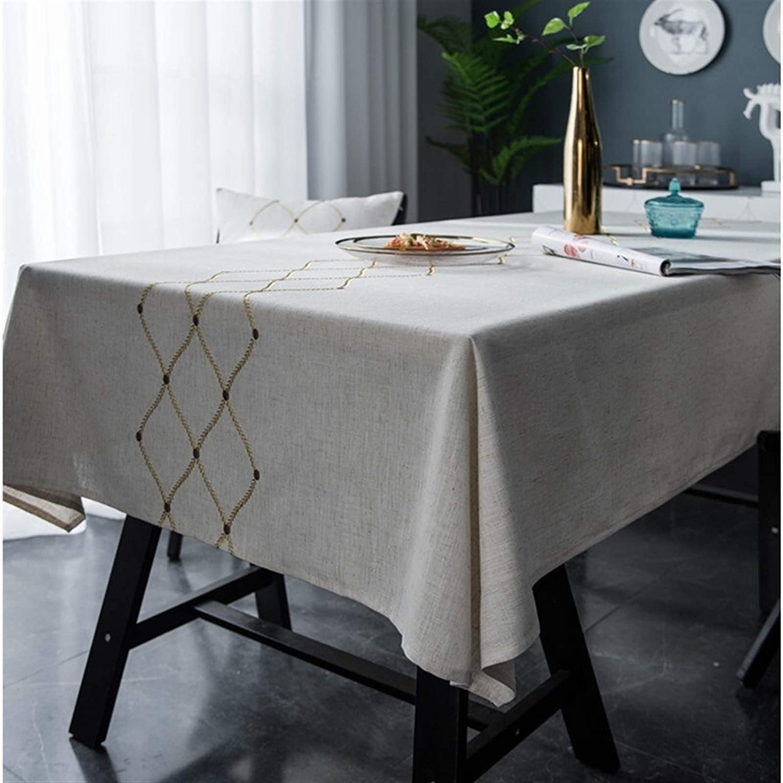 XQLSRJ Proud Rose 2021 model New Regular store Nordic Geometric Embr Diamond-Shaped Linen