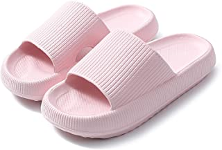 Prekeewil Pillow Slides Slippers for Women and Men Non Slip Quick Drying Massage Bathroom Shower Sandals Open Toe Super So...
