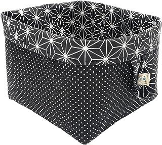 Corbeilles de rangement en tissu cubes réversibles en coton pour étagères et bureaux, panier/boîte/panier multi-usages déc...