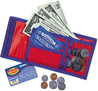 Learning Resources Cash 'N' Carry Wallet, Nylon & Velcro Wallet, Ages 5+