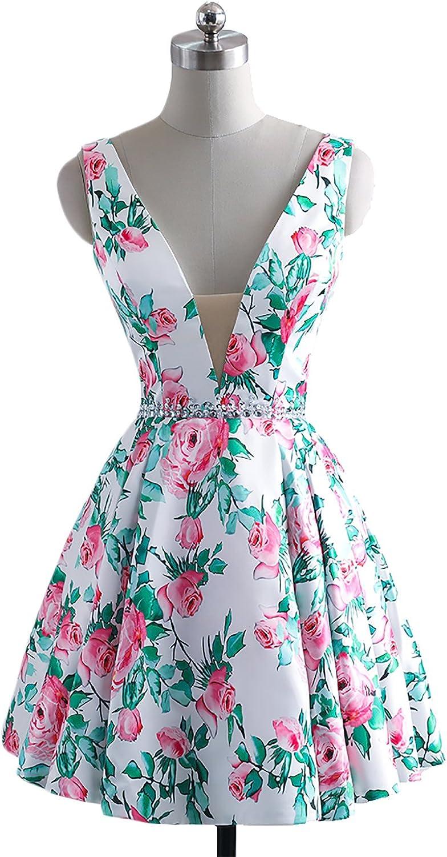 YSMei Women's Floral Print Prom Party Dress Long Mermaid A Evening Dress YFP16