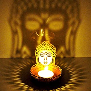 Hashcart Shadow Buddha Design Tealight Candle Stand/Holder Table Decorative Candle Holders