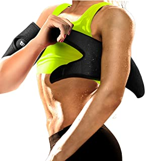 Neoprene Arm Trimmers Sauna Sweat Band for Women Men Weight Loss Compression Body Wraps Sport Workout Exercise(a pair)