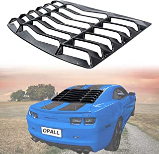 Rear Window Windshiled Louver Sun Shade Cover Matte Black in GT Lambo Style for Chevy Chevrolet Camaro 2010 2011 2012 2013 2014 2015