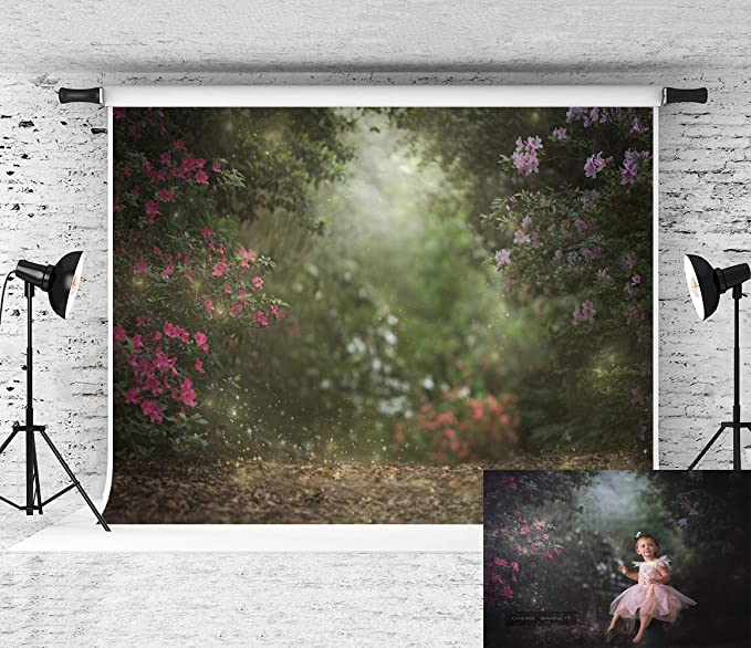 Kate Floral Portrait Hintergrund Für Fotografie Grün Kamera