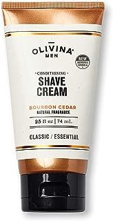 Olivina Men Conditioning Shave Cream, Bourbon Cedar, 2.5-Fluid Ounce