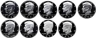 1970 S 1971 S 1972 S 1973 S 1974 S 1976 S 1977 S 1978 S 1979 S Kennedy Half Dollar Gem Run 9 Coin Set .50 US Mint Proof