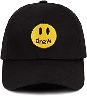 Drew Justin Bieber Smiley face Dad Hat 100% Cotton Drew House Baseball Cap