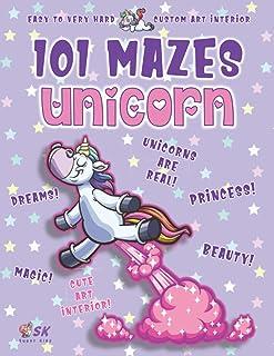 Unicorn Maze Book for Girls Ages 4-8: 101 Puzzle Pages. Custom Art Interior. Cute fun gift! SUPER KIDZ. Farting Stars, Gli...