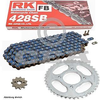 Kettensatz geeignet für CBR 125 R 04 10 Kette RK FB 428 SB 124 offen BLAU 15/42