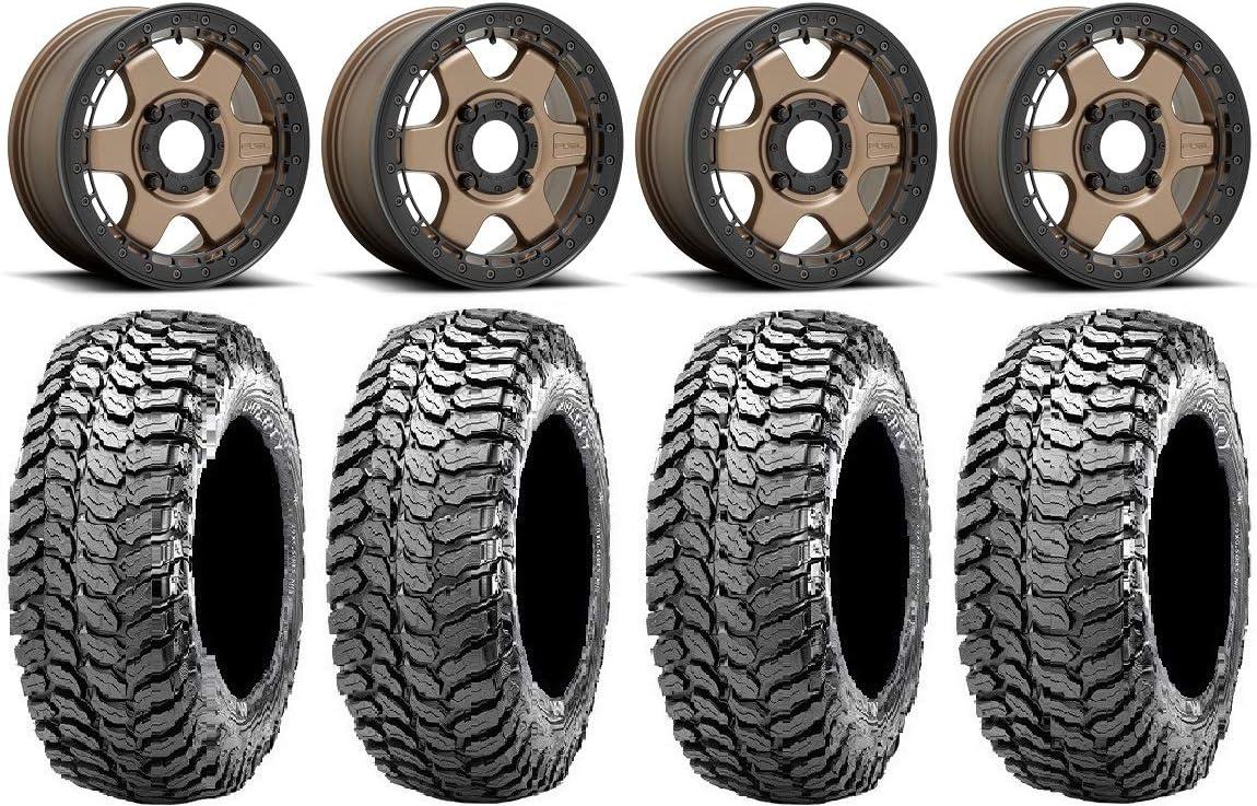 Bundle - 9 Items: Fuel Block Wheels Bronze Beadlock 29