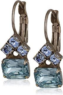 Three's Company Earring, Blue, 0.5