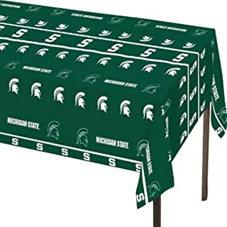 Creative Converting Michigan State Spartans Plastic Table Cover, 140cm x 270cm