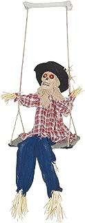 Halloween Animated Kicking Scarecrow on Swing Decoration, 31 Inch