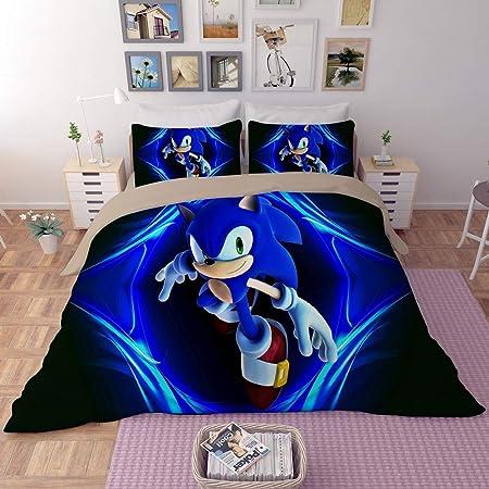 3D Sonic the Hedgehog Bedding Set Duvet Qulits Cover Comforter Cover PillowCase