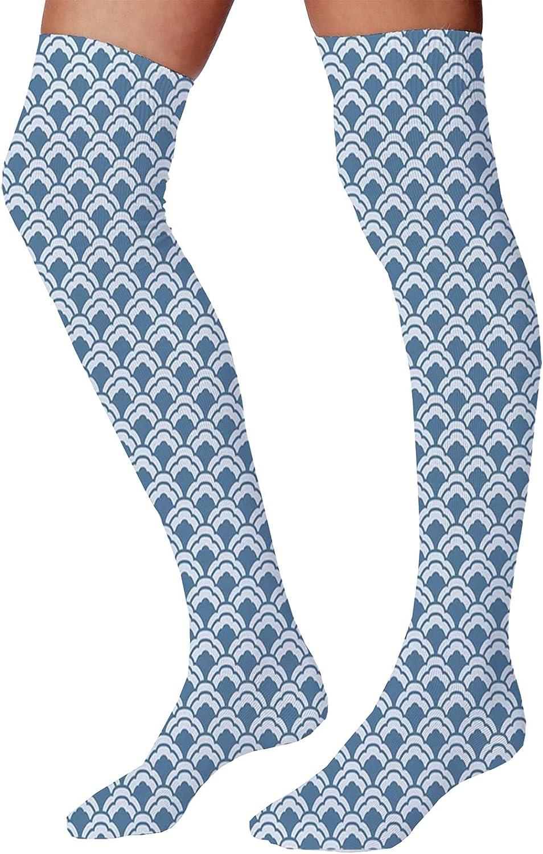 Men's and Women's Fun Socks,Abstract Chevron Pattern with Dark Tone Backdrop Herringbone Style Zigzags Design