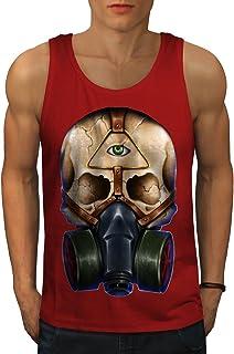 Wellcoda 頭蓋骨 とともに マスク 男性用 S-2XL タンクトップ