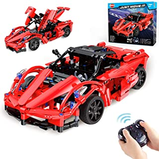 VATOS STEM RC Building Toys for Boys STEM Toys for 6 Year Olds Remote Control Cars Engineering Building Bricks Roadster Ki...