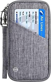 Family Passport Holder with Accordion Design RFID - Blocking Travel Wallet Ticket Holder Document Organizer with Zipper for Women Men, Fits 4 Passports