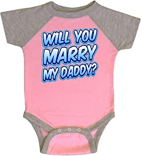 inktastic Will You Marry My Daddy (Blue) Infant Creeper