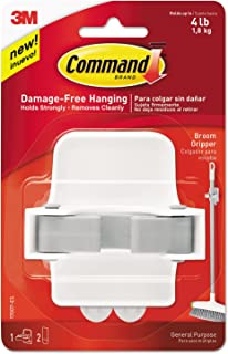 Command 8358002331 08358002331 Broom Gripper, Band, 4-Pack, 4 Pack, Grey/White