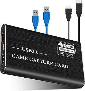 Viixm キャプチャーボード 4K HDMI USB3.0 ビデオキャプチャカード ゲーム 1080P 60FPS HD画質 Windows/Linux/Mac OSX 対応 PC / PS3 /PS4 / Xbox/Switch/Wii ...