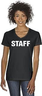 A+ Staff Women V-Neck T-Shirt Tee
