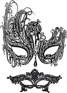 Sponsored Ad - Masquerade Mask for Women Shiny Rhinestone Venetian Party Prom Ball Metal Mask