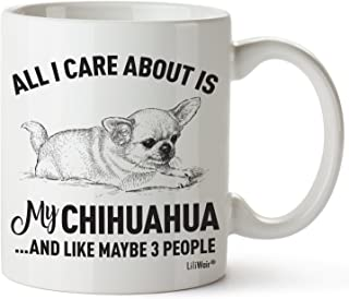 Chihuahua Mom Gifts Mug Women Men Dad Decor Lover Decorations Stuff I Love Chihuahuas Coffee Merchandise Accessories Talking Art Apparel Funny Birthday Gift Home Supplies Products Dog Coffee Cup Mugs
