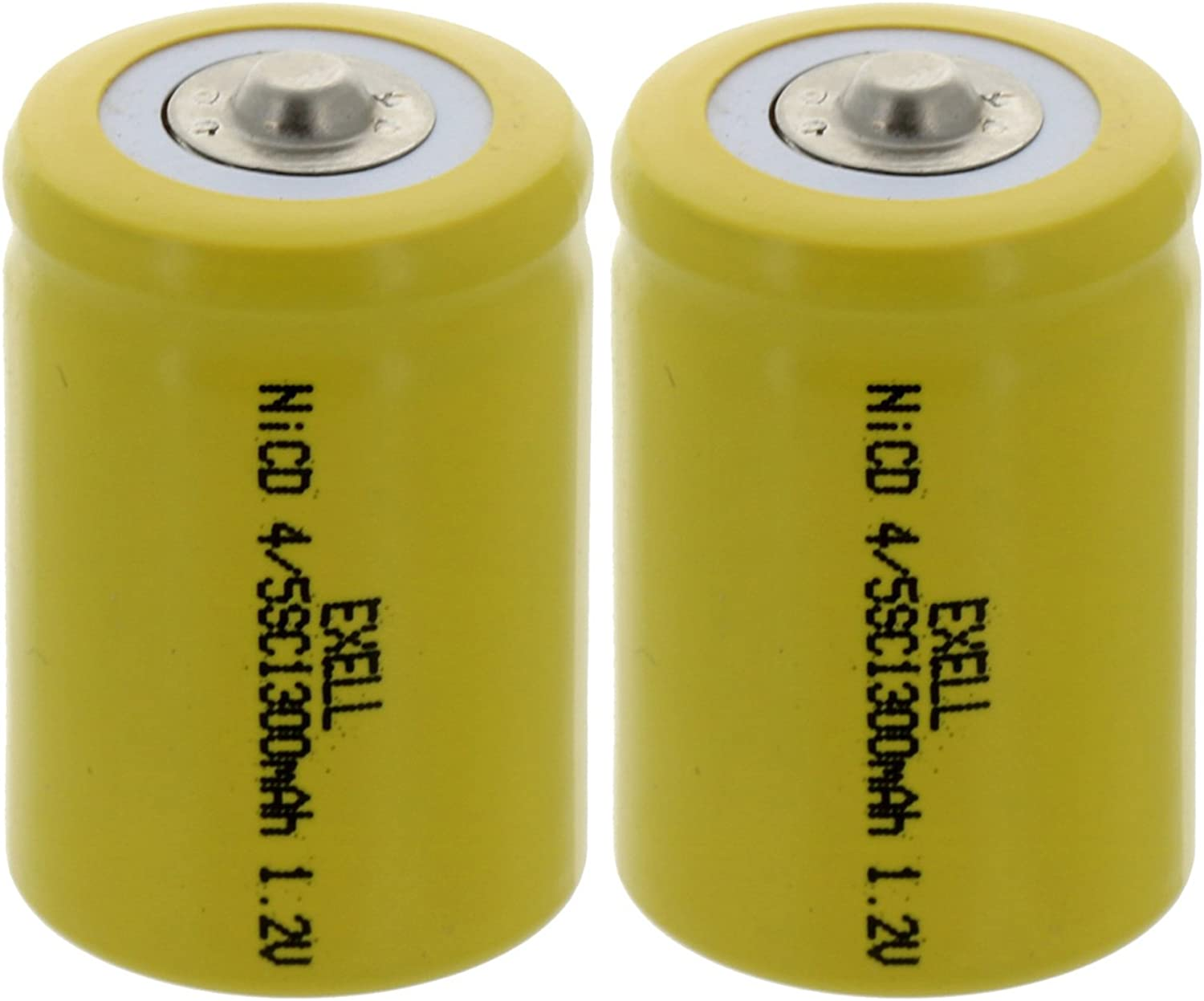 2-PACK 4 5 SubC Selling 1.2V 1200mAh Max 84% OFF Button Rechargeable Top NiCD Batt