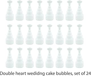 Charmed Wedding Bubble Wand Party Favors Box of 24 (Wedding Cake)
