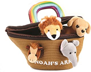Animal House Noah's Ark Plush Animals Sound Toys With Carrier | Plush Animal Toy Baby Gift | Toddler Gift