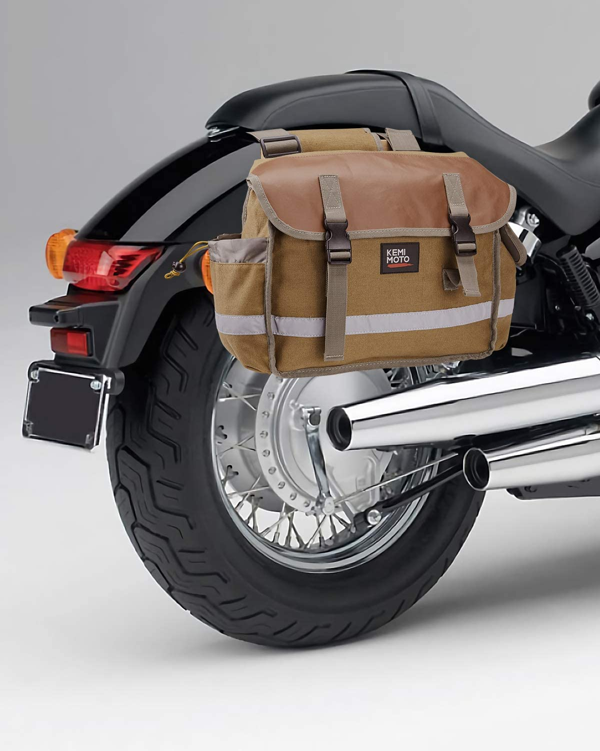 Brown Motorcycle Mail order Saddle Max 42% OFF Bags Scooter Saddlebags for