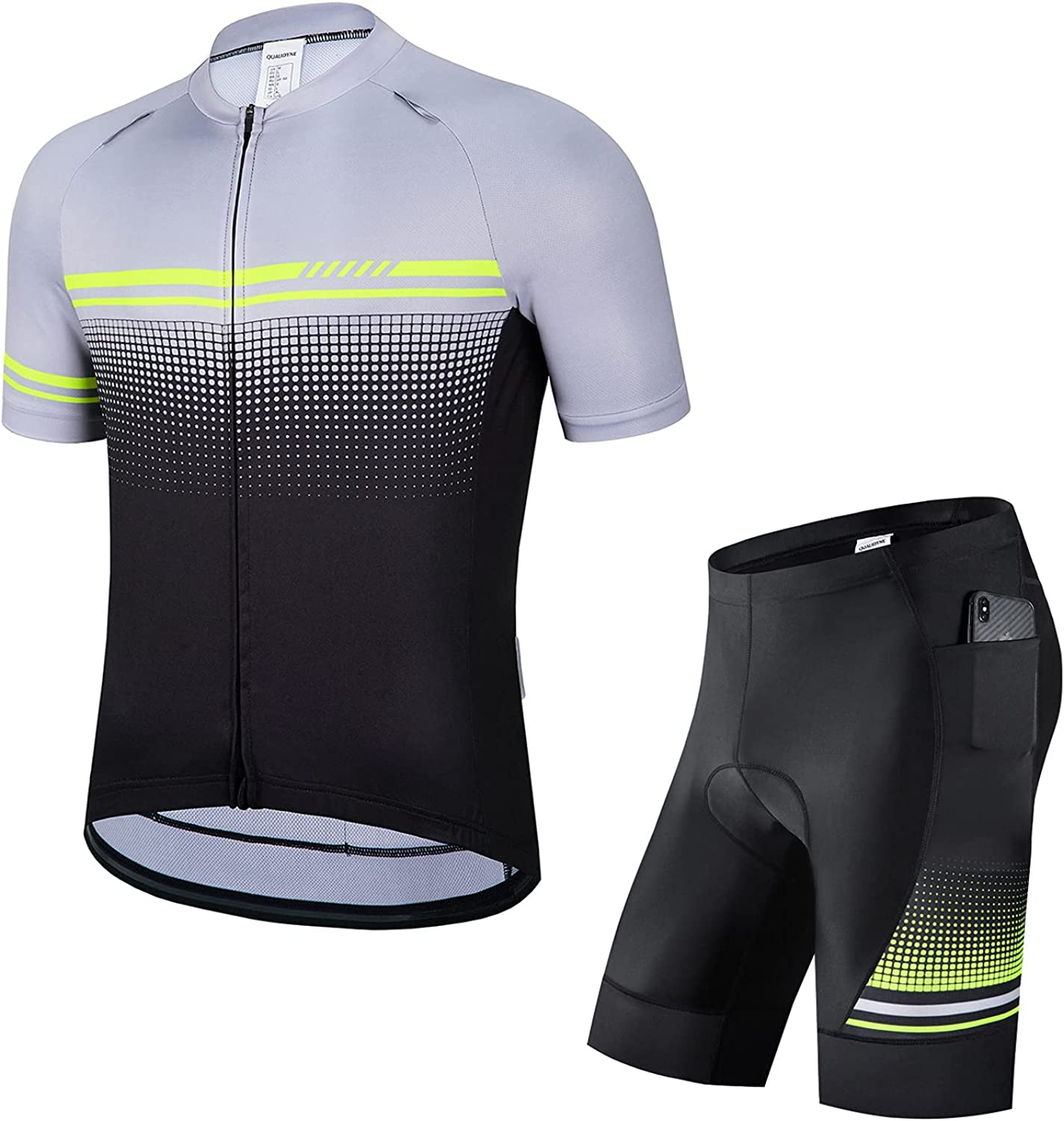 Max 88% OFF qualidyne Men's Cycling Jersey Set S Opening large release sale Short Bicycle Biking Sleeve