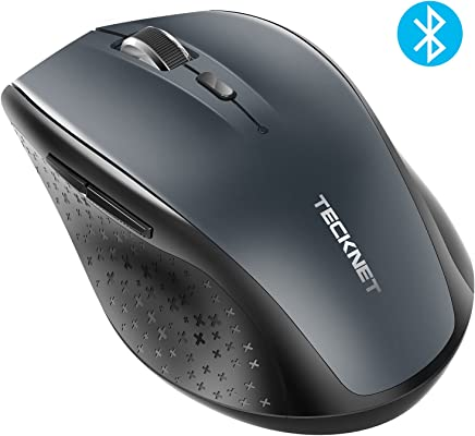 TeckNet Bluetooth Mouse, 3000DPI Wireless Mouse, 24 Month Battery Life With Battery Indicator, 3000/2000/1600/1200/800 dPi