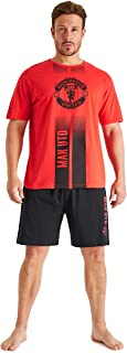 Manchester United F.C. Mens Pyjamas Cotton Official Football Gifts for Men