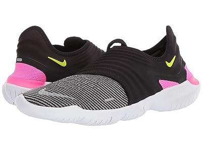 Nike Free RN Flyknit 3.0 (Black/Pink Blast/Atmosphere Grey) Men
