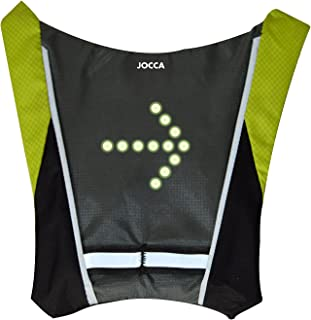Jocca Chaleco Bicicleta Unisex con indicador de luz LED, Neg