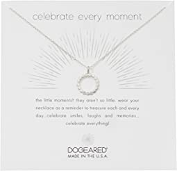 Celebrate Everything, Dotted Circle with Crystal Necklace